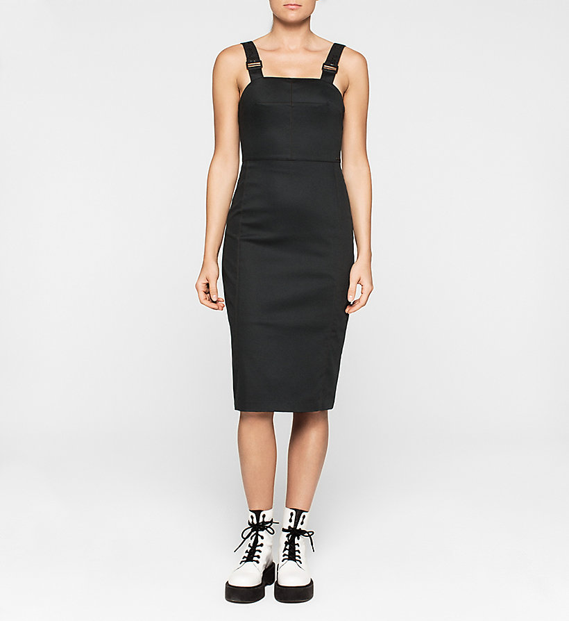 CKJEANS Midi Pinafore Dress - CK BLACK - CK JEANS DRESSES - main image