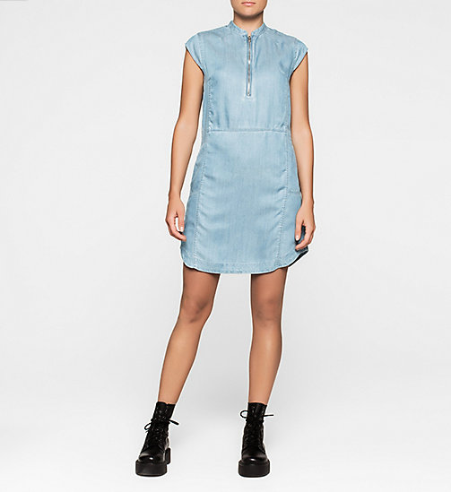 CKJEANS Denim Dress - MID INDIGO - CK JEANS DRESSES - main image
