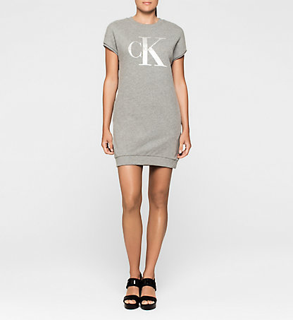 CALVIN KLEIN JEANS Logo Sweater Dress J20J204756038