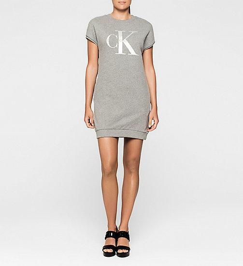 CALVINKLEIN Logo Sweater Dress - LIGHT GREY HEATHER BC04 - VOL39 - CK JEANS DRESSES - main image