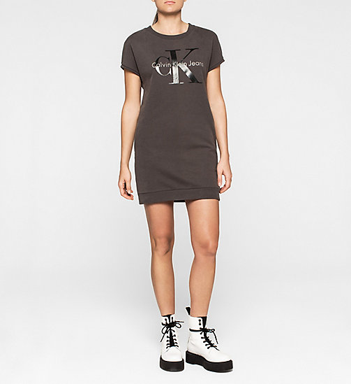CALVINKLEIN Logo Sweater Dress - METEORITE - CK JEANS DRESSES - main image