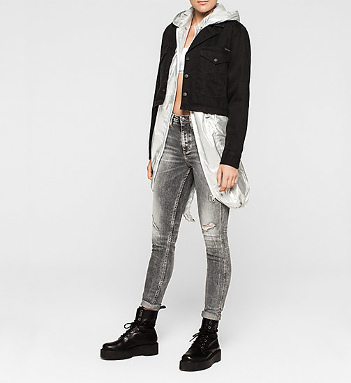 CKCOLLECTION Metallic Parka - METALLIC SILVER - CK JEANS OUTERWEAR - detail image 1