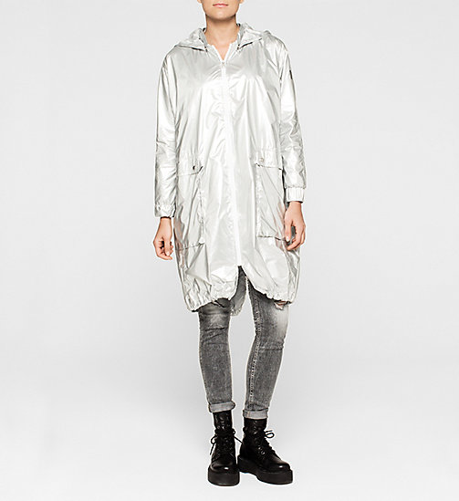 CKCOLLECTION Metallic Parka - METALLIC SILVER - CK JEANS OUTERWEAR - main image