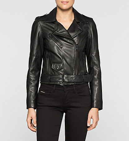 CALVIN KLEIN JEANS Leather Biker Jacket J20J204758099