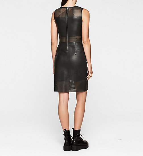 CALVINKLEIN Laser-Cut Dress - CK BLACK - CK JEANS DRESSES - detail image 1