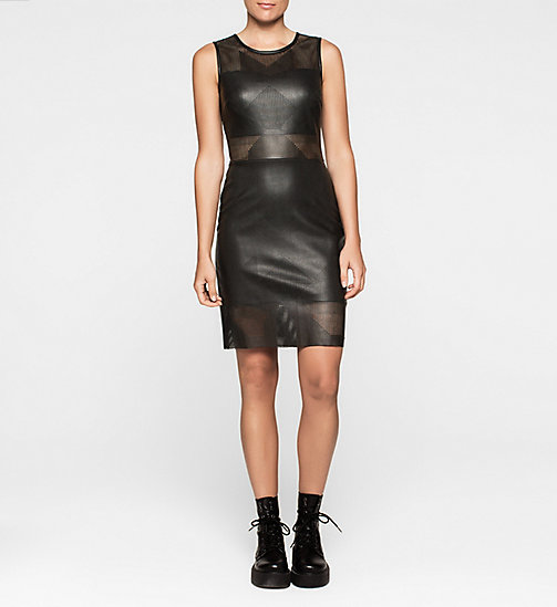 CKJEANS Laser-Cut Dress - CK BLACK - CK JEANS DRESSES - main image