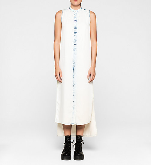 Denim Maxi Dress - LIGHT INDIGO - CK JEANS DRESSES - main image