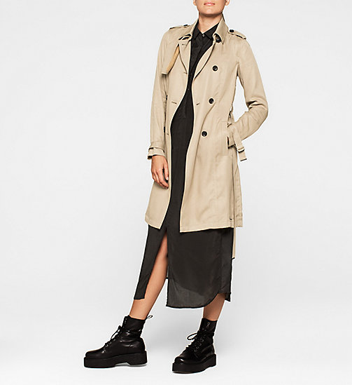 CKJEANS Trench Coat - CHINCHILLA - CK JEANS OUTERWEAR - detail image 1