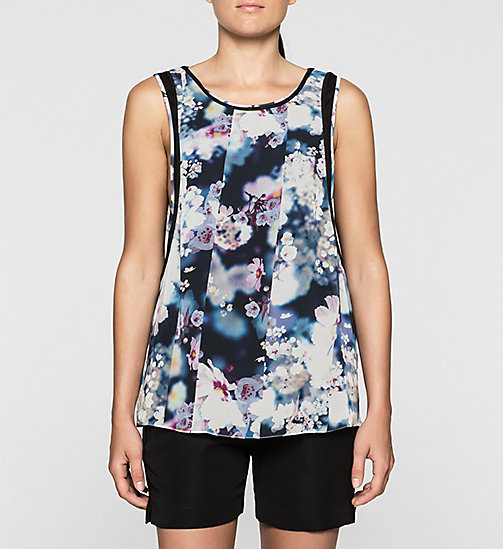 CKCOLLECTION Floral Tank Top - IRRIDESCENT FLORAL - CK JEANS  - main image