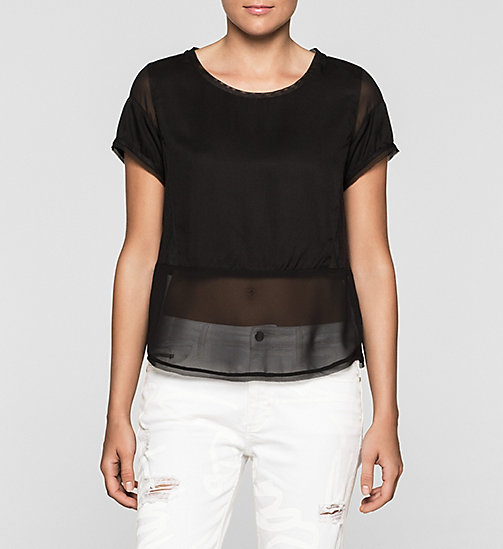 CKJEANS Material Mix Top - CK BLACK - CK JEANS SHIRTS - main image