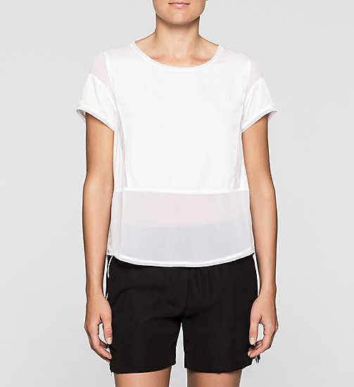 CKCOLLECTION Material Mix Top - BRIGHT WHITE - CK JEANS  - main image