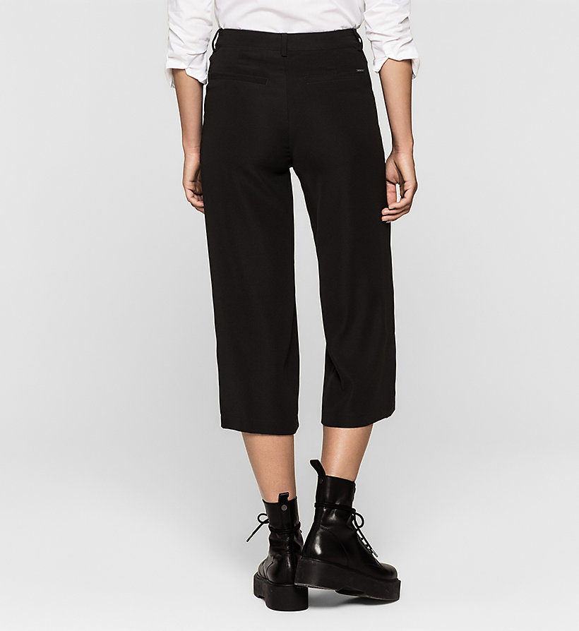 CKJEANS Satin Twill Culottes - CK BLACK - CK JEANS SHORTS - detail image 1