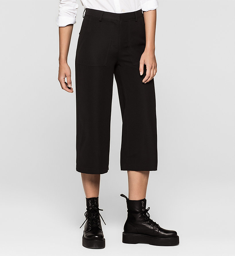 CKJEANS Satin Twill Culottes - CK BLACK - CK JEANS SHORTS - main image