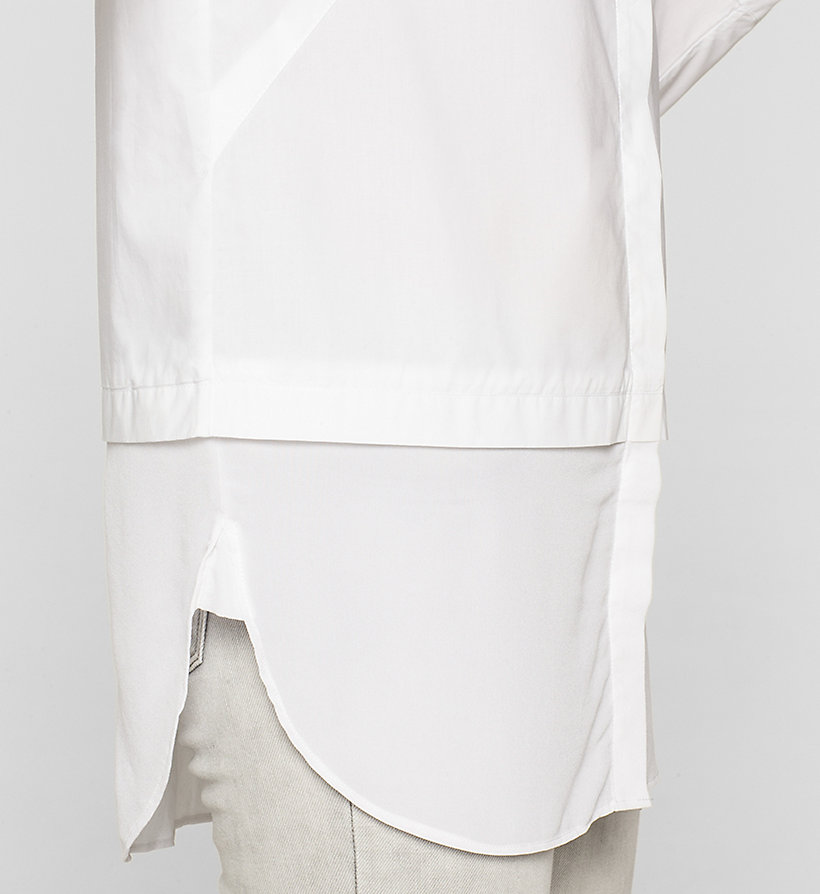 CKJEANS Poplin Tunic Shirt - BRIGHT WHITE - CK JEANS CLOTHES - detail image 2