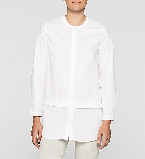 CKCOLLECTION Poplin Tunic Shirt - BRIGHT WHITE - CK JEANS  - main image