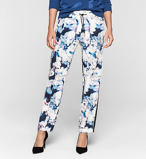 CALVINKLEIN Satin Sweatpants - IRRIDESCENT FLORAL - CK JEANS TROUSERS - main image
