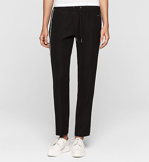 CALVINKLEIN Satin Sweatpants - CK BLACK - CK JEANS TROUSERS - main image