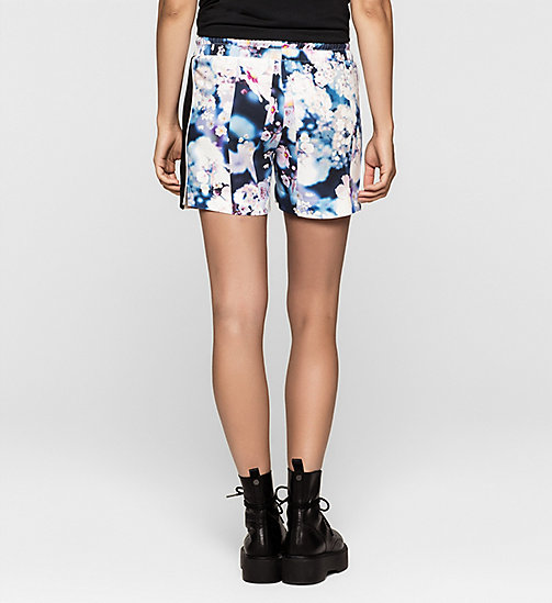 CKCOLLECTION Mesh-Trimmed Shorts - IRRIDESCENT FLORAL - CK JEANS SHORTS - detail image 1