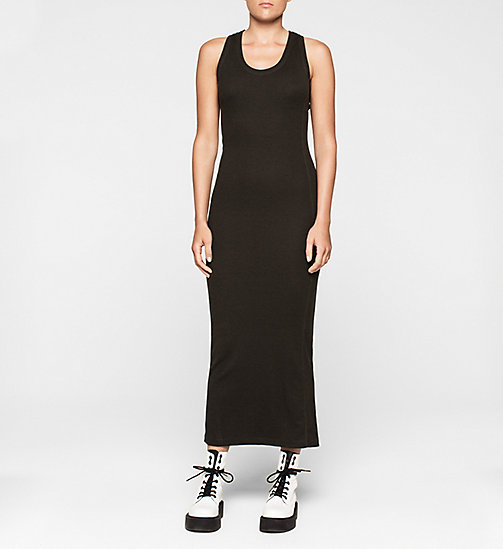 CALVINKLEIN Jersey Maxi Dress - CK BLACK - CK JEANS DRESSES - main image