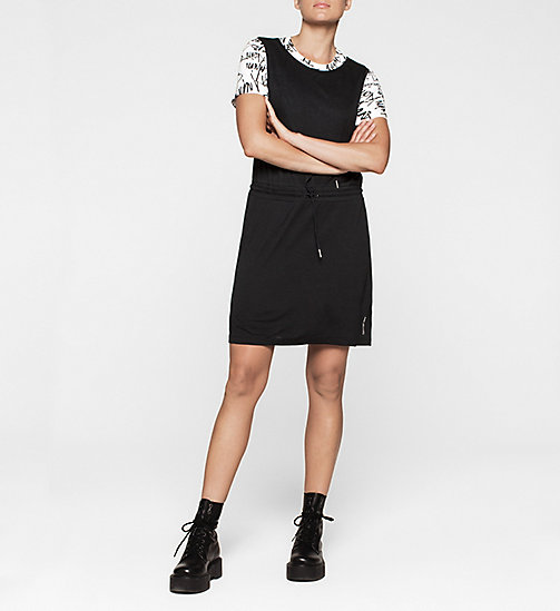 Jersey Drawstring Dress - CK BLACK - CK JEANS DRESSES - detail image 1