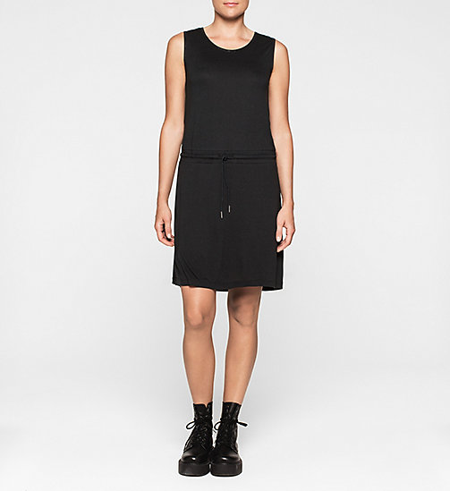 CALVINKLEIN Jersey Drawstring Dress - CK BLACK - CK JEANS DRESSES - main image