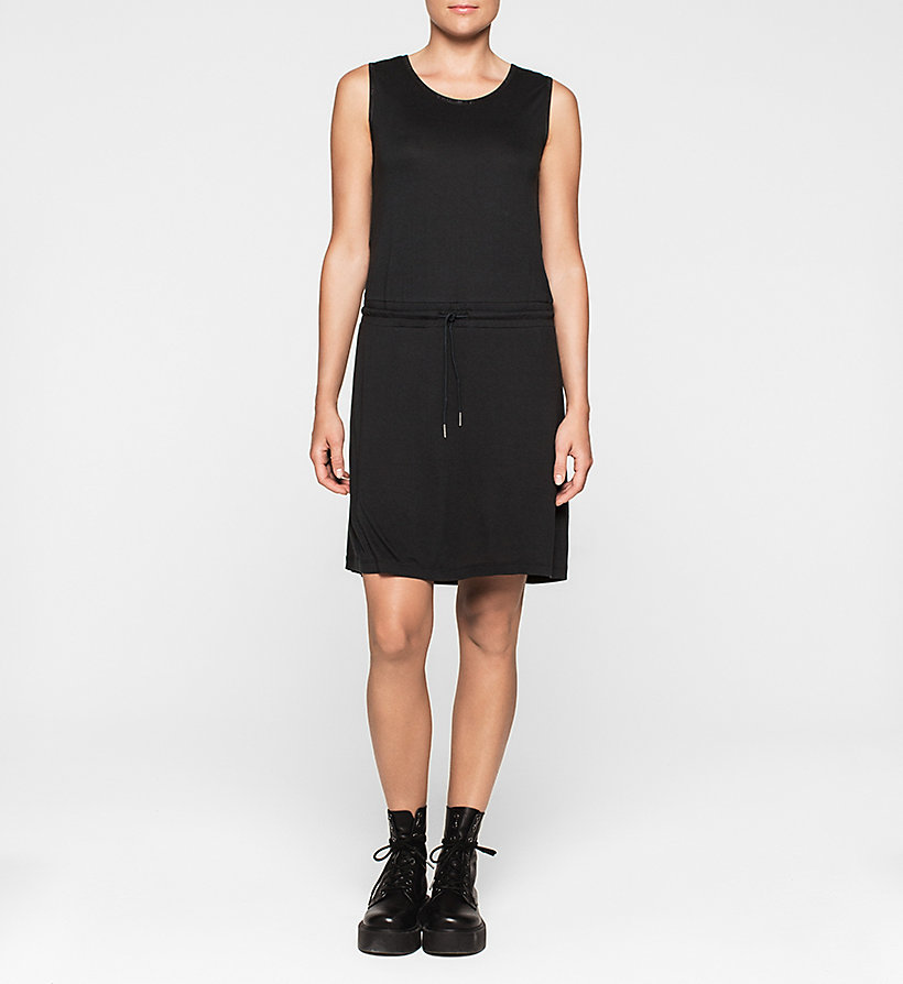 CKJEANS Jersey Drawstring Dress - CK BLACK - CK JEANS DRESSES - main image