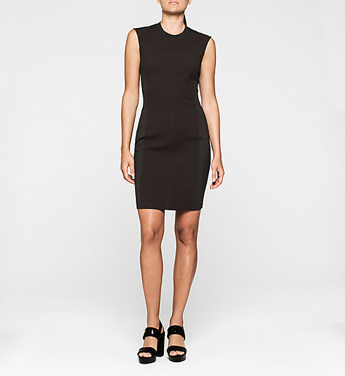 CALVINKLEIN Panelled Jersey Dress - CK BLACK - CK JEANS DRESSES - main image