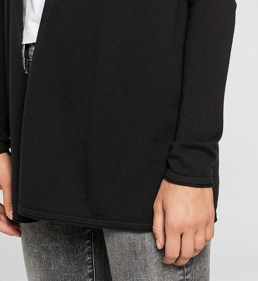 CKJEANS Cotton Silk Cardigan - CK BLACK - CK JEANS CLOTHES - detail image 2