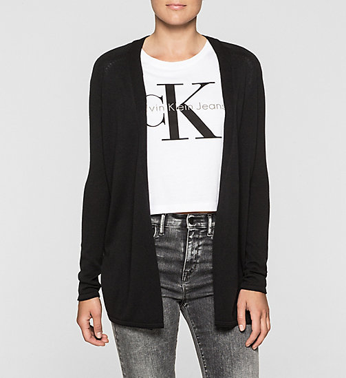 Cotton Silk Cardigan - CK BLACK - CK JEANS  - main image