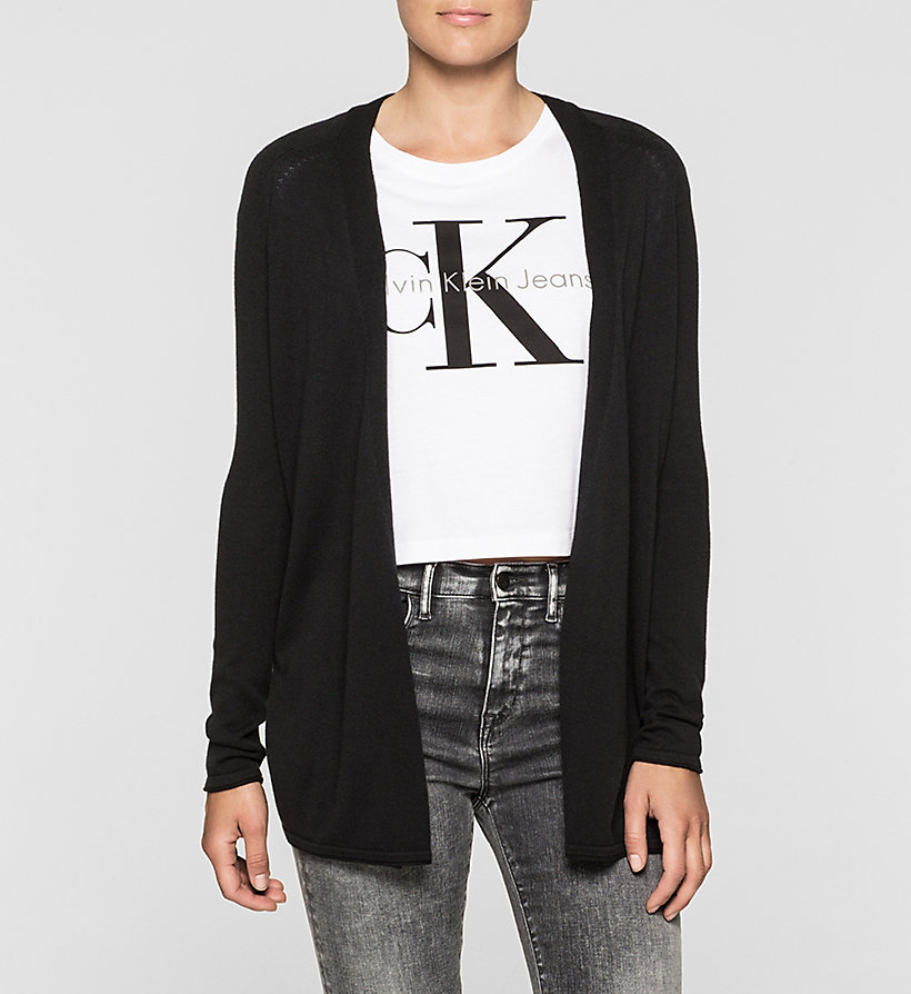 CKJEANS Cotton Silk Cardigan - CK BLACK - CK JEANS CLOTHES - main image
