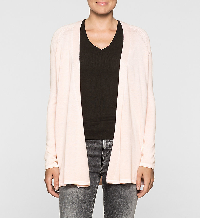 CKJEANS Cotton Silk Cardigan - PALE DOGWOOD - CK JEANS CLOTHES - main image