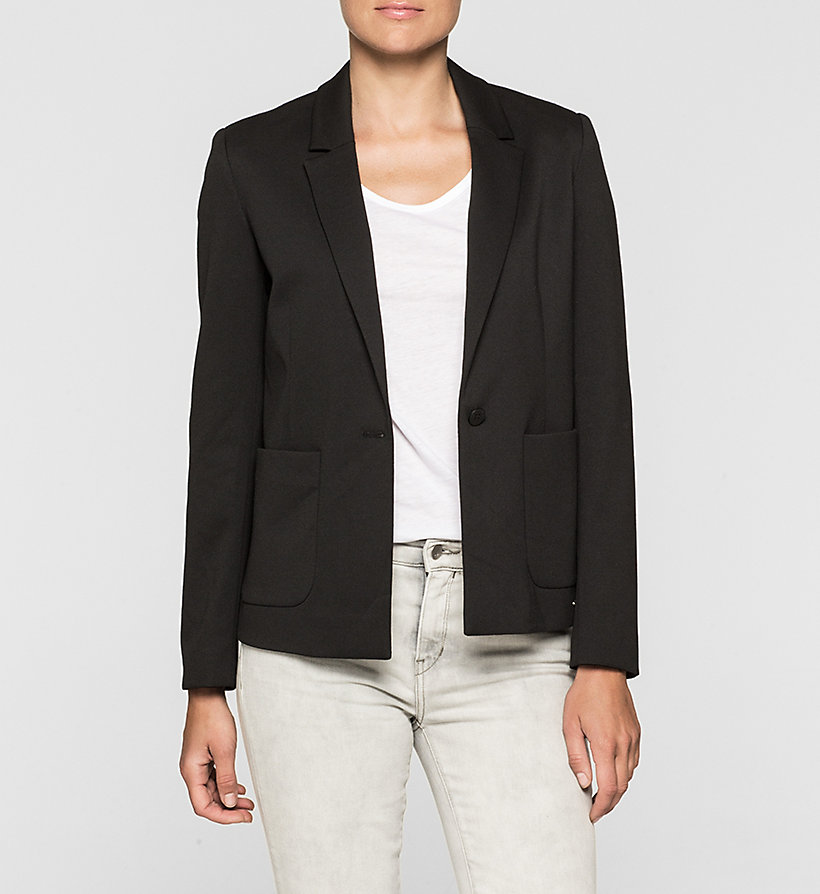 CKJEANS Fitted Jersey Blazer - CK BLACK - CK JEANS CLOTHES - main image