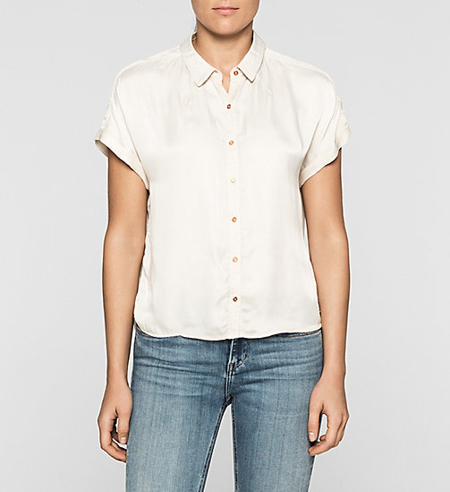 Boxy Satin Shirt - MOONBEAM - CK JEANS SHIRTS - main image
