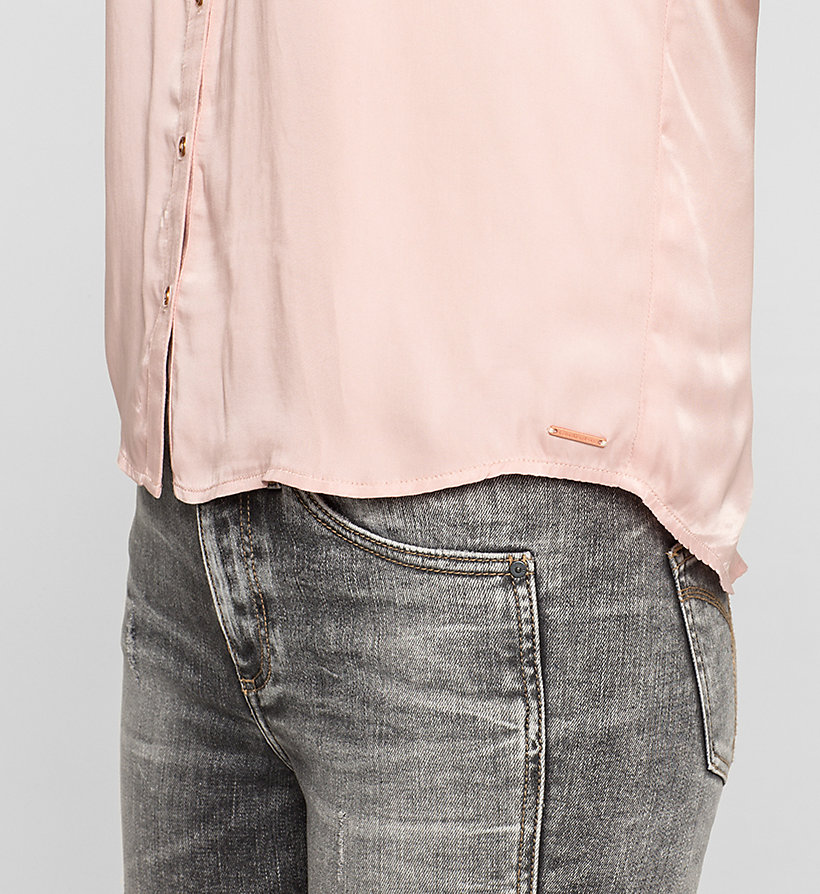 CKJEANS Boxy Satin Shirt - MELLOW ROSE - CK JEANS CLOTHES - detail image 2