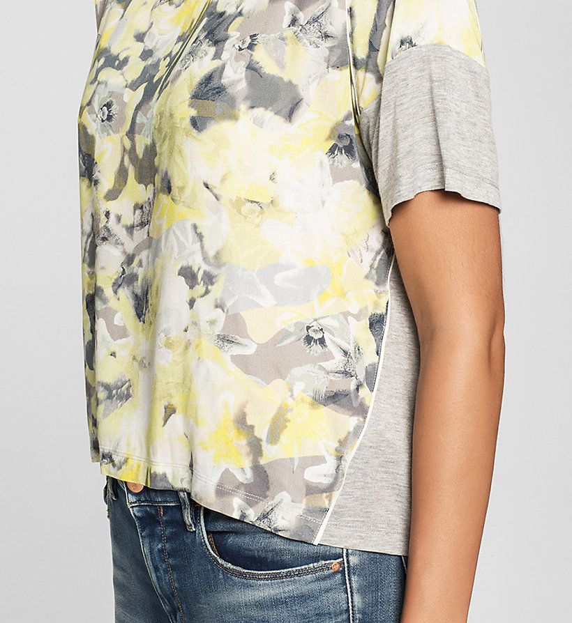 CKJEANS Cropped Material Mix Top - CAMO FLORAL - CK JEANS CLOTHES - detail image 2