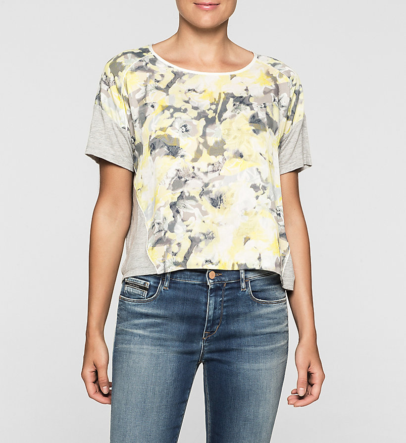 CKJEANS Cropped Material Mix Top - CAMO FLORAL - CK JEANS CLOTHES - main image
