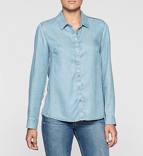 Denim Shirt - MID INDIGO - CK JEANS SHIRTS - main image
