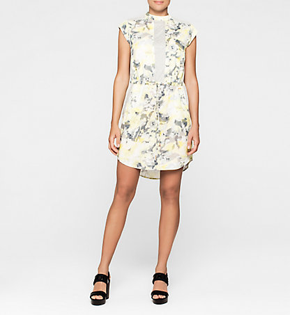 CALVIN KLEIN JEANS Floral Printed Dress J20J204804002