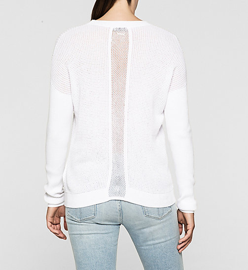 CALVINKLEIN Textured Knit Sweater - BRIGHT WHITE - CK JEANS JUMPERS - detail image 1