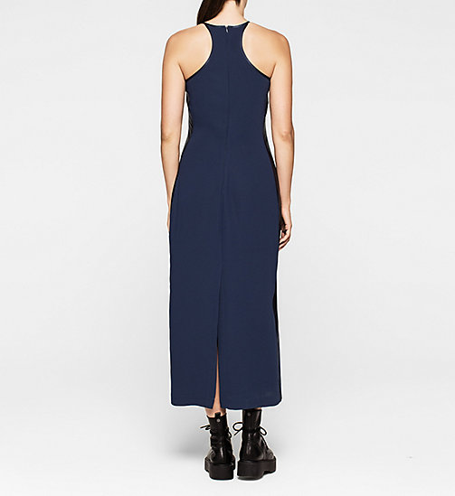 Crepe Maxi Dress - PEACOAT - CK JEANS DRESSES - detail image 1