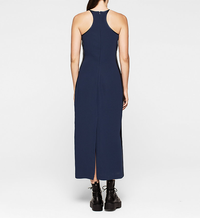 CKJEANS Crepe Maxi Dress - PEACOAT - CK JEANS DRESSES - detail image 1