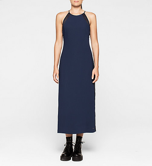 Crepe Maxi Dress - PEACOAT - CK JEANS DRESSES - main image
