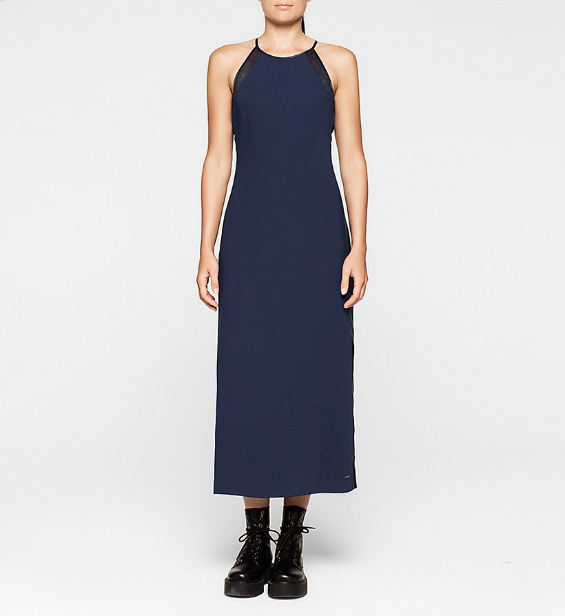 CKJEANS Crepe Maxi Dress - PEACOAT - CK JEANS DRESSES - main image