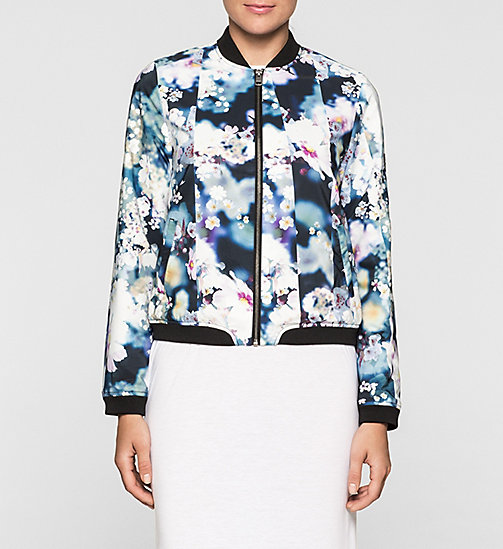 Sateen Bomber Jacket - IRRIDESCENT FLORAL - CK JEANS  - main image