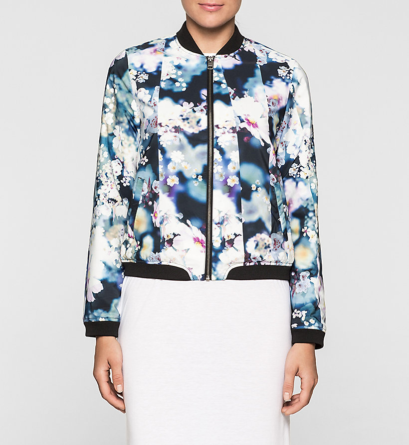 CKJEANS Sateen Bomber Jacket - IRRIDESCENT FLORAL - CK JEANS OUTERWEAR - main image