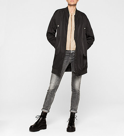 Sateen Bomber Jacket - CHINCHILLA - CK JEANS OUTERWEAR - detail image 1