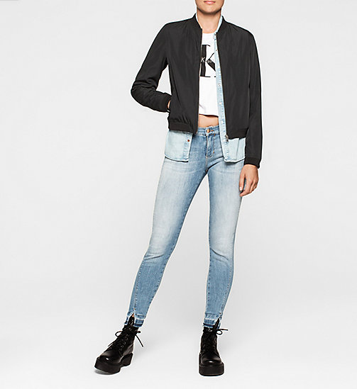 Sateen Bomber Jacket - CK BLACK - CK JEANS OUTERWEAR - detail image 1