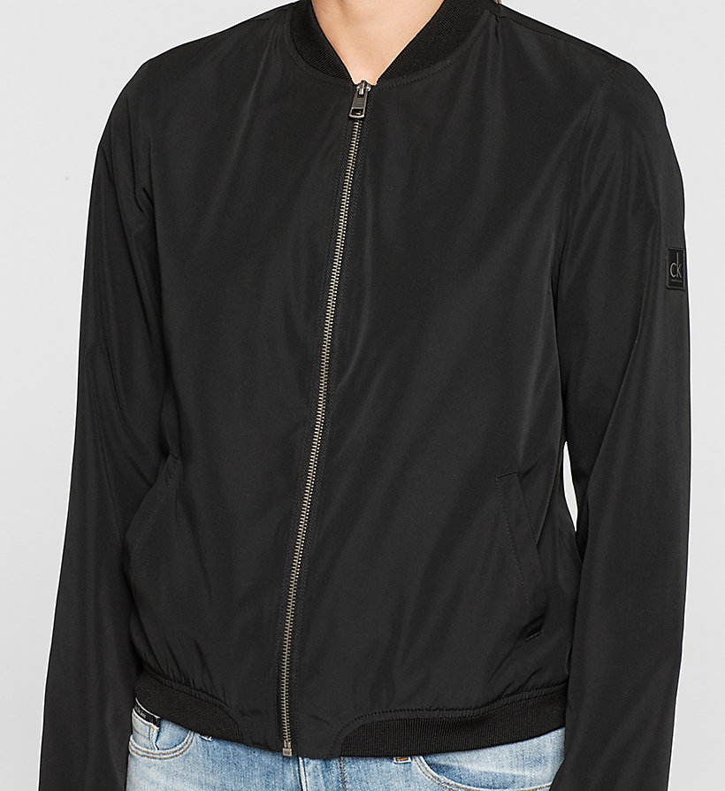CKJEANS Sateen Bomber Jacket - CK BLACK - CK JEANS CLOTHES - detail image 2