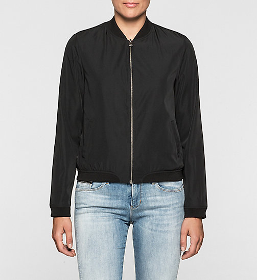 CKJEANS Sateen Bomber Jacket - CK BLACK - CK JEANS Up to 50% - main image