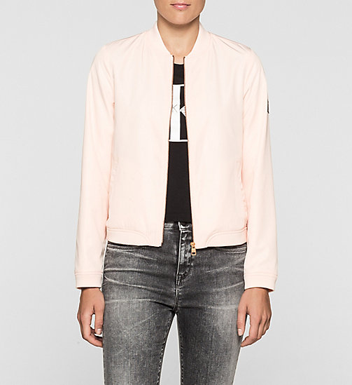 Sateen Bomber Jacket - PALE DOGWOOD - CK JEANS  - main image